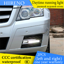 Hireno AUTO WAY For Merceeds-Benz W204 GLK300 GLK350 GLK500 Car Daytime running lights Signal Function Relay Waterproof 12V