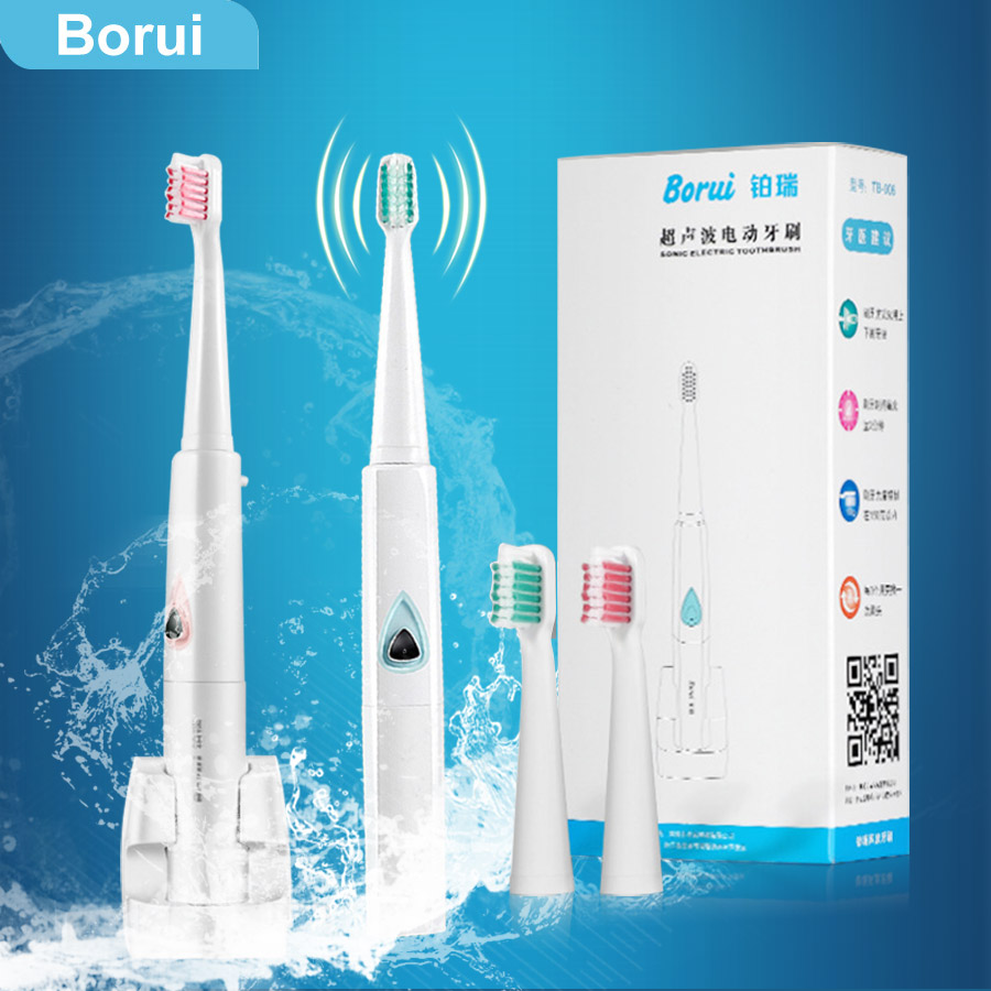 2017 Ultrasonic Electric Toothbrush Oral Hygiene Chargeable Wireless Charge Sonic Brush Tooth Brush Teeth 3 Toothbrush Heads new arrival ultrasonic electric toothbrush oral hygiene chargeable wireless charge sonic brush tooth brush teeth 3 heads