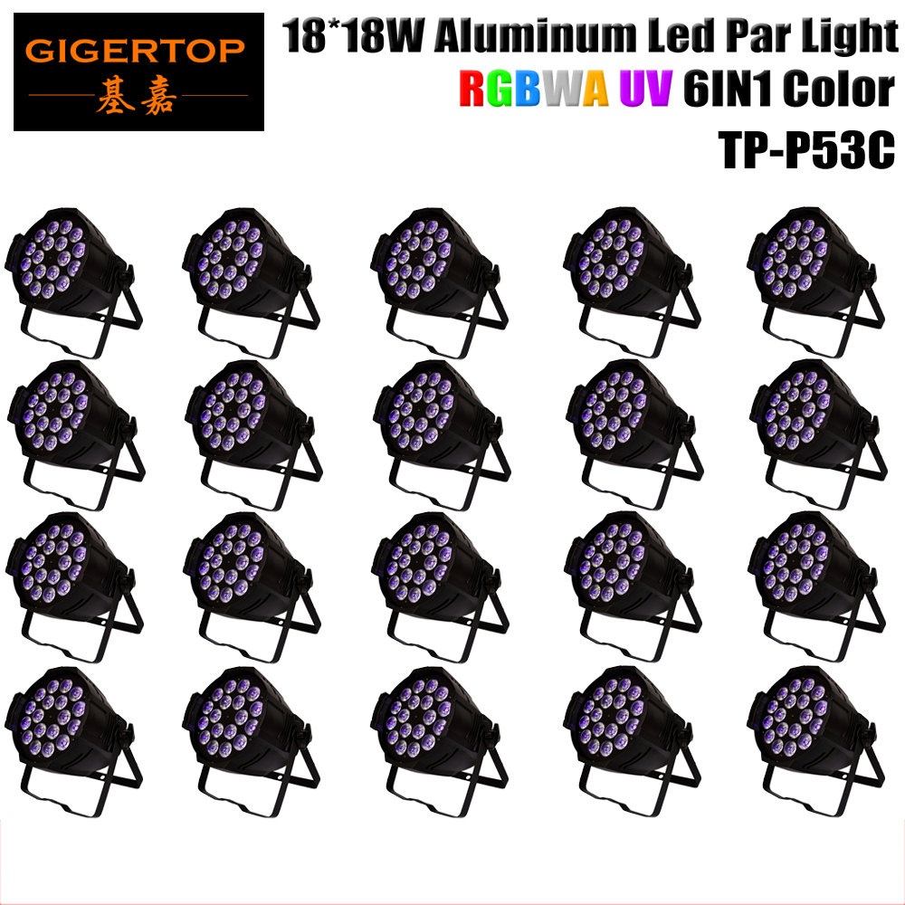China Stage Light 20XLOT 18x18W Rgbwau 6in1 LED PAR Light Tyanshine Leds Aluminium Alloy Housing Big Heat Sink Silent Fan social housing in glasgow volume 2