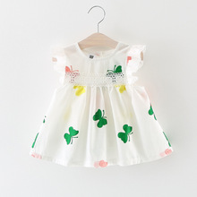 Baby Birthday Party Dresses for Baby Girls 2018 Summer Newborn Girl Princess Print Dress Kids Clothes Toddler Girls Clothing new brand girls summer dress floral girls clothes 2016 baby princess kids event party dress for newborn girl clothing