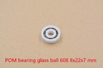 POM plastic 8mmx22mmx7mm nylon bearing 8mm bearing glass ball water proof acid and alkali resistant single seal 608 1pcs image