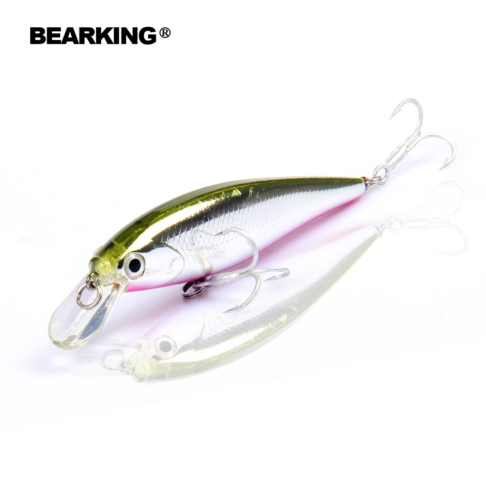 Retail fishing tackle new model, Bearking perfect action minnow, 78mm/9.2g, dive 0.8-1.2m suspending bait , 5 colors for choose