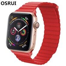 42 мм, 38 мм, версия кожаный ремешок для наручных часов Apple watch, ремешок 4 44 мм 40 мм наручных часов iwatch, correa 3/2/1 браслет ремешок Магнитная застежка ремешок на запястье