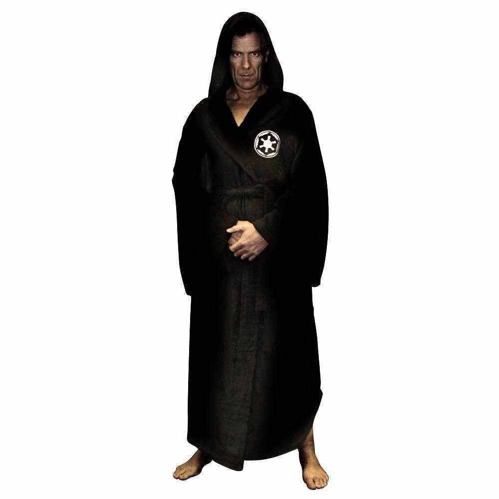 Flanella Abito Maschile Con Cappuccio star Wars Vestaglia Jedi Impero Lungo di Spessore degli uomini Accappatoio Camicie Da Notte Mens Accappatoio inverno