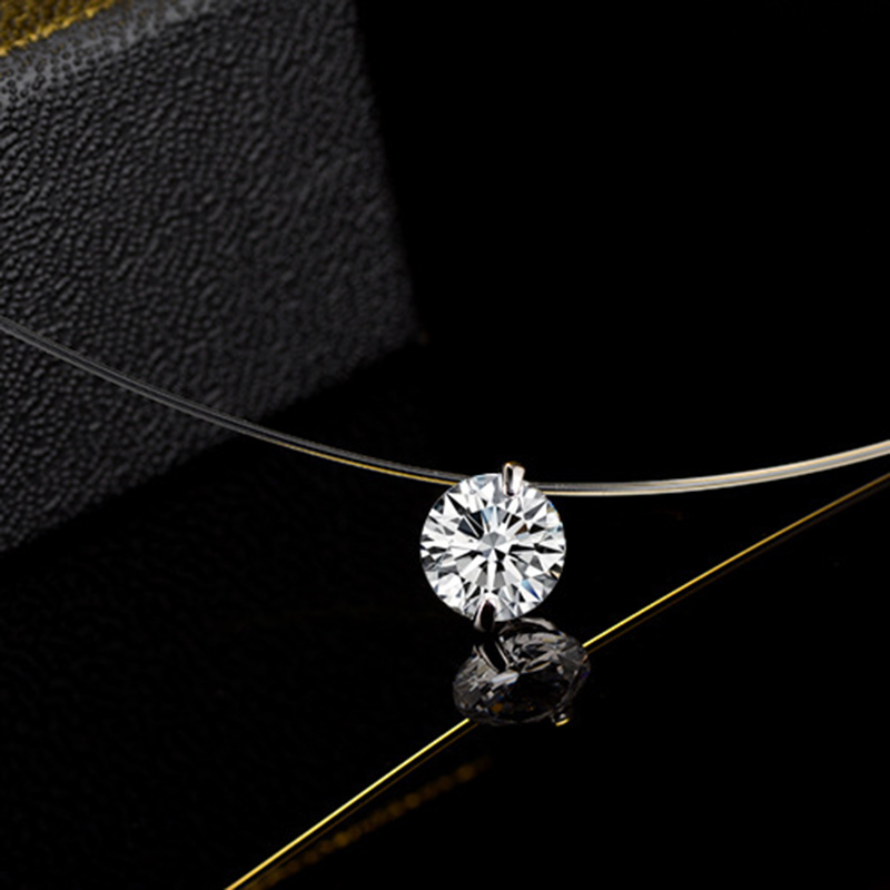 8mm Minimalism Crystal Pendant choker necklaces & pendants Mermaid tear elastic line Pendant womens clothing accessories N31