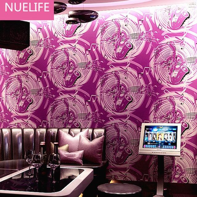 US $29 27 11% OFF|0 53x10m KTV Wallpaper 3d Music Saxophone Wallpaper Bar  Hotel Ballroom Box Theme Room Living Room Bedroom Wallpaper-in Wallpapers