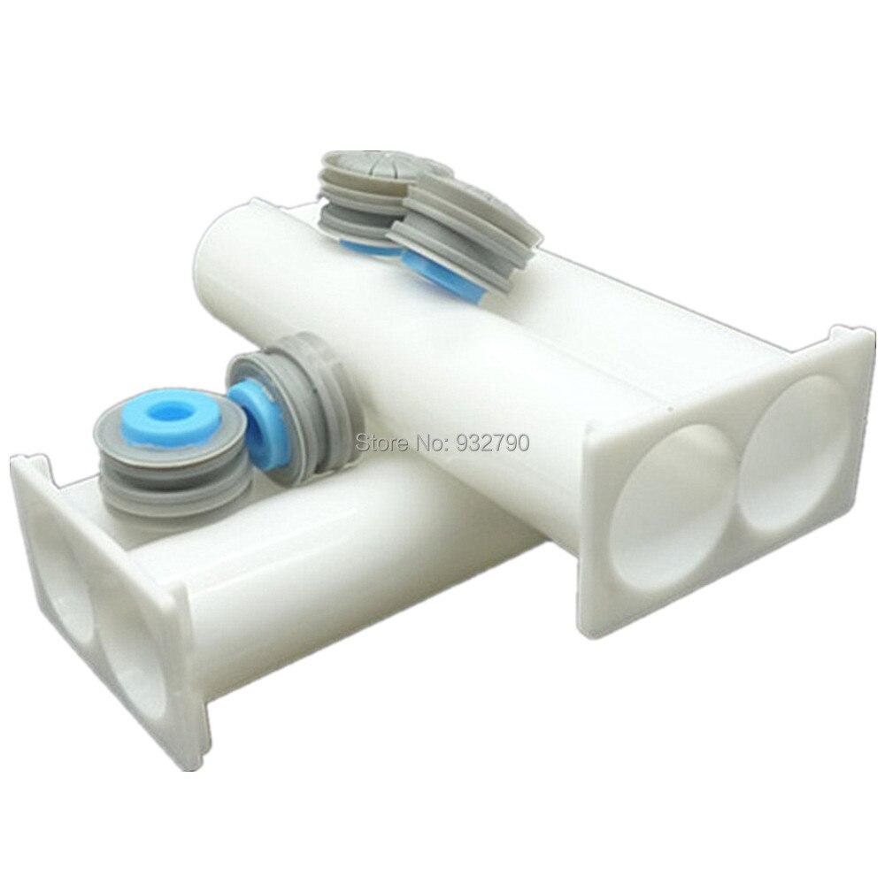 2 Sets PP Mixer Epoxy Resin Dispenser 50ml AB Dual Cartridge AB Epoxy Hand Manual Gun Cartridge 1:1 Disposable Dual Glue Tube