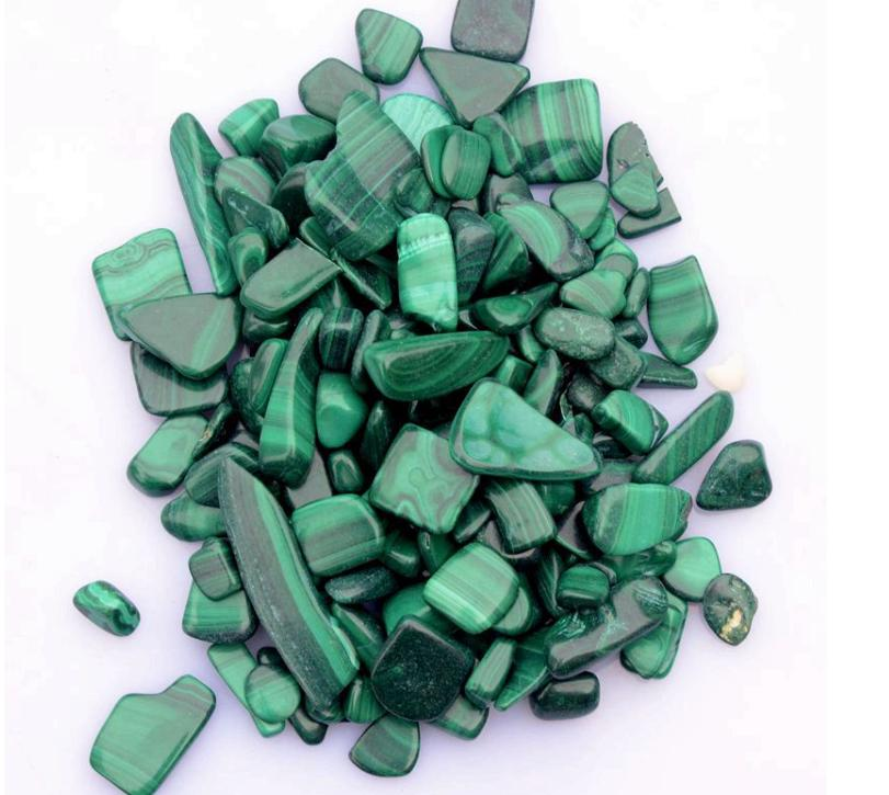 100g Natural Malachite Gravel Chamfered And Polished For 50g Each Bag