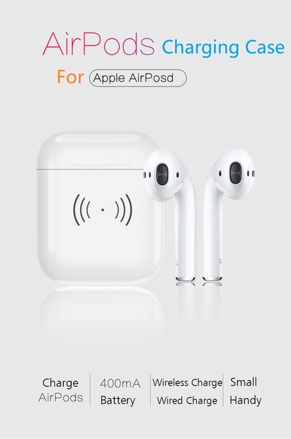 best service b8db4 73ca2 US $25.99 |AirPods Charging Case, Wireless Charging Only Box for Apple  AirPods, Charger Compatible with AirPods Headphones-in Mobile Phone  Housings ...