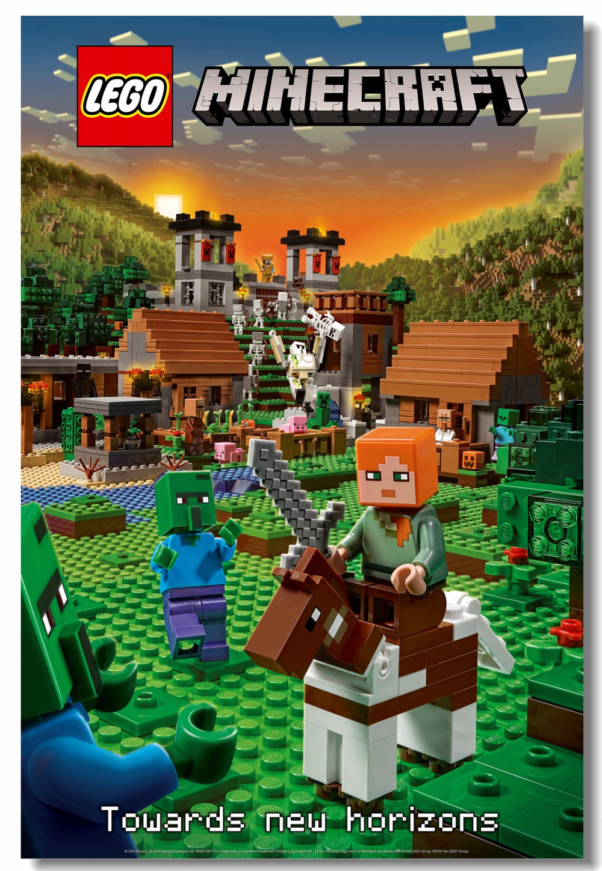 Custom Canvas Wall Decal Lego Minecraft Poster Minecraft