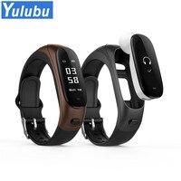 Yulubu 2018 V08 Bluetooth Headset Smart Bracelet Heart Rate Monitor Wristband Blood Pressure Activity Earphone Wearable Devices