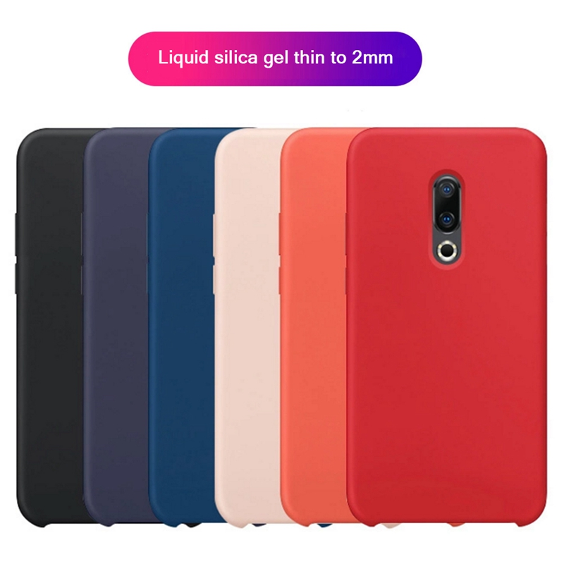 Original Case For <font><b>Meizu</b></font> <font><b>16th</b></font> Cover Liquid Silicone Slim Matte Soft Phone Cases For <font><b>MeiZu</b></font> <font><b>16th</b></font> 16 th Full Cover ShockProof Coque image