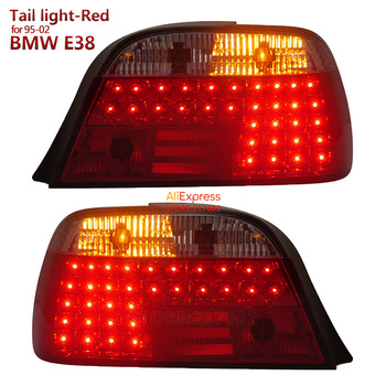 Red Color for BMW 7 Series E38 728 730 735 740 750 LED Tail light fit 1995-2002 year Car models SONAR brand Top Quality image