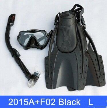 Palmes de natation ajustable adulte palmes de plongée natation plongée protection lunettes de protection Tube de respiration lunettes de plongée masques - 3
