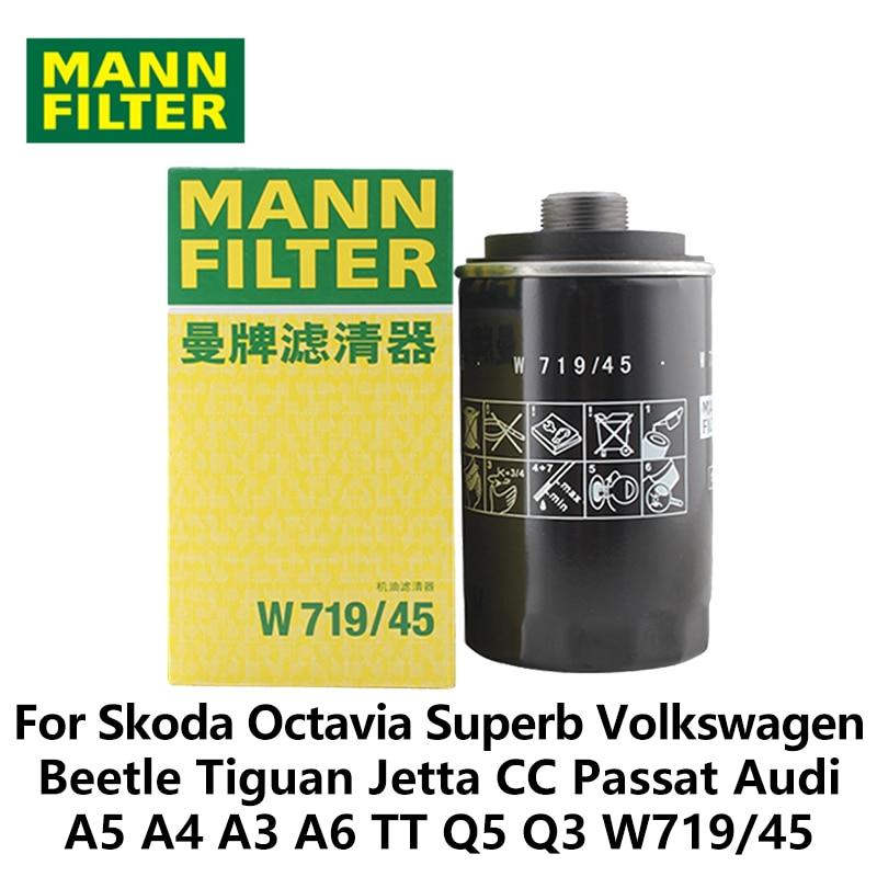 MANN FILTER Car Oil Filter For Audi A3 (2008 2013) A4(2009