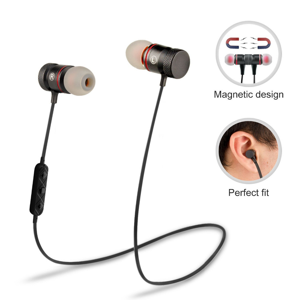 supology magnet sport in ear bluetooth earphone earpiece handsfree stereo headset wireless. Black Bedroom Furniture Sets. Home Design Ideas