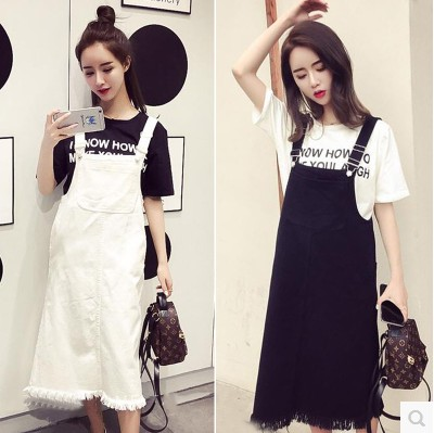 2018 New Korean Style Women 39 S Casual Wear Thin Thin Washed Denim Denim Dress Mm In Dresses From