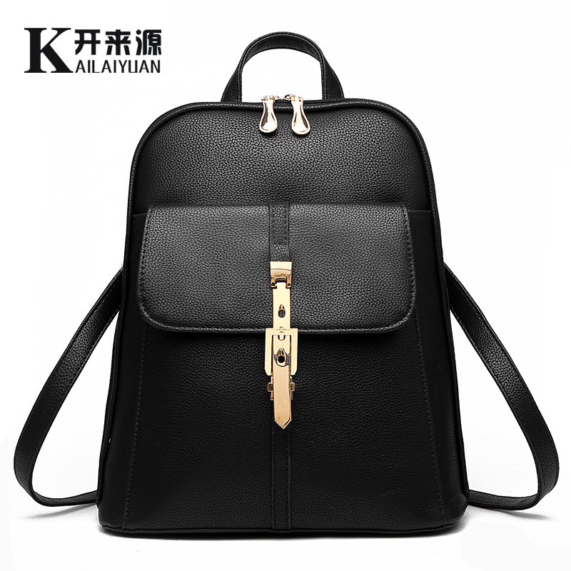 KLY 100% Genuine leather Women backpack 2018 New wave of female students backpack spring and summer fashion casual Korean bag водный пистолет тилибом с помпой 45см красный для мальчика