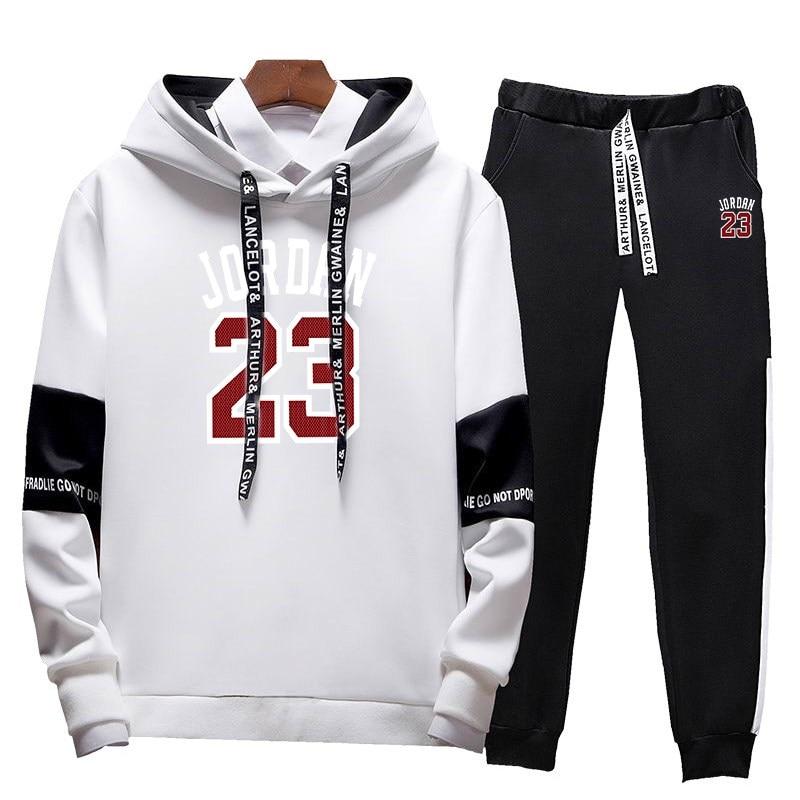 2019 Herbst/winter Männer Trainingsanzug Jordan 23 Hip Hop Hoodies Sweatshirts Und Jogginghose Männer Zwei Stück Set Mit Kapuze Anzug Hoher Standard In QualitäT Und Hygiene