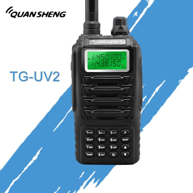 Double bande 2 vie deux way radio double veille doppio affichage QUANSHENG TG-UV2 con certificazione FCC del CE Talkie Walkie