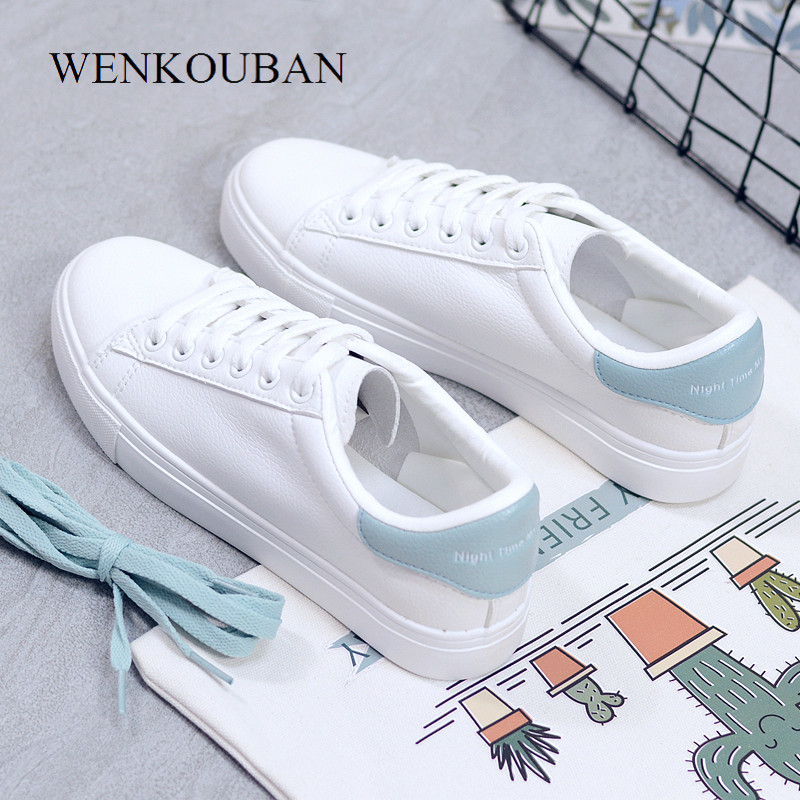 2019 Fashion Women White Sneakers Vulcanized Shoes Women Trainers Female PU leather Shoes Breathable Ladies Casual Shoes2019 Fashion Women White Sneakers Vulcanized Shoes Women Trainers Female PU leather Shoes Breathable Ladies Casual Shoes