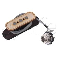 3-pole 4.3K Pre-wired 3 String Bass Pickup&Input Jack for Cigar Box Guitar цена в Москве и Питере