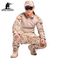 Camuffamento tattico militare abbigliamento paintball army cargo pants pantaloni da combattimento multicam militar tattico pantaloni con ginocchiere