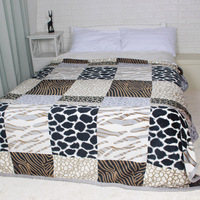 Winter Thick Big Size Flannel Bed Blankets Plaid Fuzzy Plush Bedding Sheet King Queen Blanket Throw