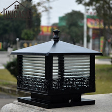 Outdoor Wall Lights Garden Pathway Antique Sconce Aluminum ornament light Mini Christmas Lighting Black Vintage LED Lamp