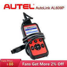 Autel AutoLink AL609P scania Car Diagnostic Auto Tool Scanner OBD2 Code Scan Tool scaner automotriz profesional Diagnostic tool стоимость