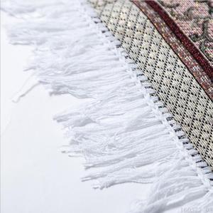 Image 2 - Woven Cotton Muslim Prayer Rug for Living Room Modern Carpet Soft Turkish Carpets Japanese Mat Tatami Summer Blanket with Bag