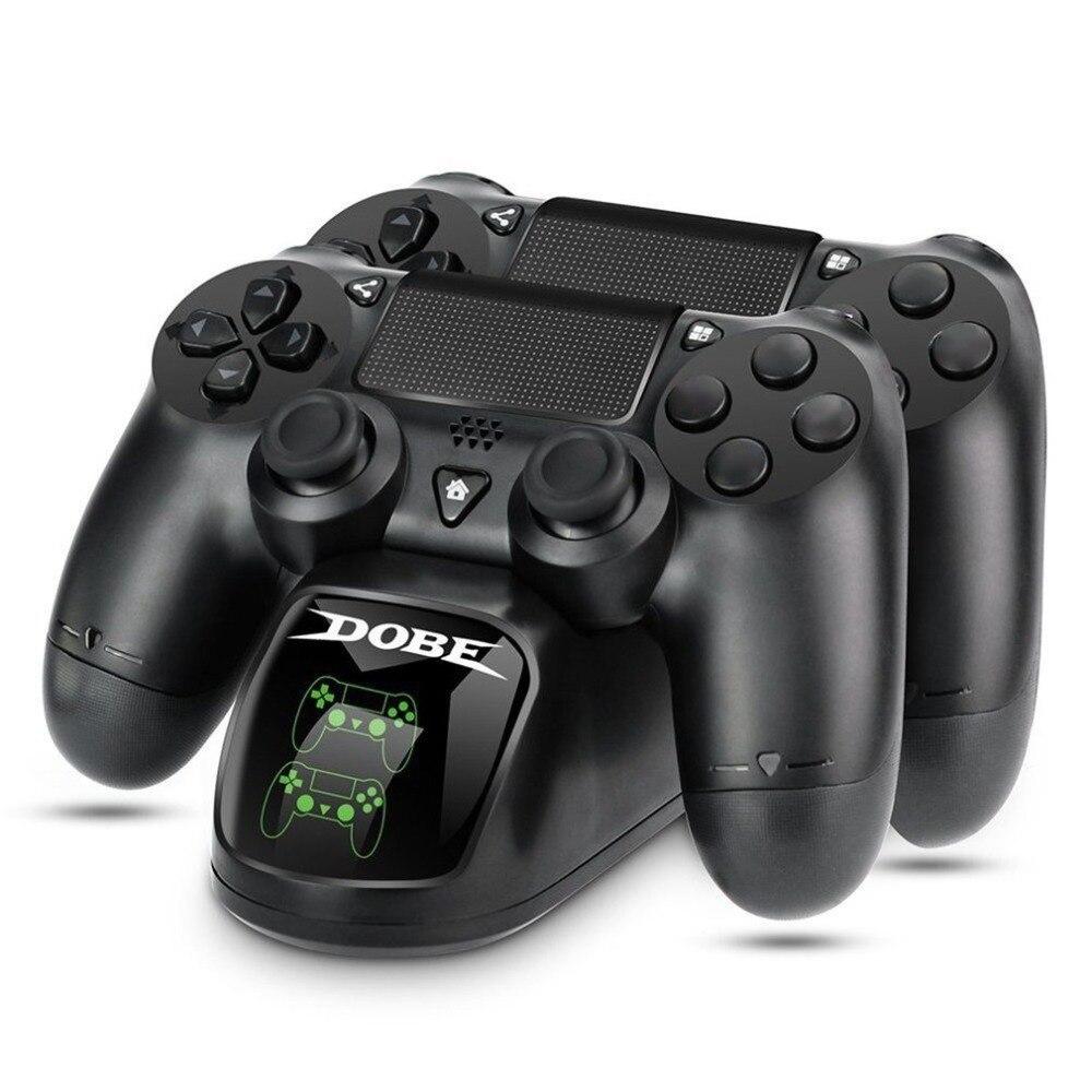 Carregamento rápido Carregador de Estação de Carregamento Doca Dupla Controladores Gamepad PS4 Base Do Suporte Suporte para SONY PlayStation 4 PS4/Pro /magro