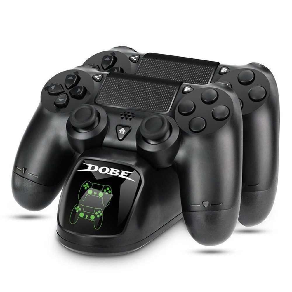 Szybkie ładowanie PS4 Dock podwójne kontrolery ładowarka stacja ładowania Gamepad podstawka podstawka do SONY PlayStation 4 PS4/Pro/Slim