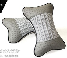High Elastic Silk Cotton Car Headrest Travel Soft Warm Neck Rest Seat Bone Car Care Cervical Auto Car seat head cushion