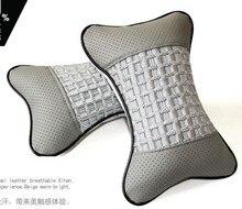 Yüksek elastik ipek pamuk araba kafalık seyahat yumuşak sıcak boyun yastığı koltuk kemik araba bakımı servikal oto araba koltuğu kafa yastık