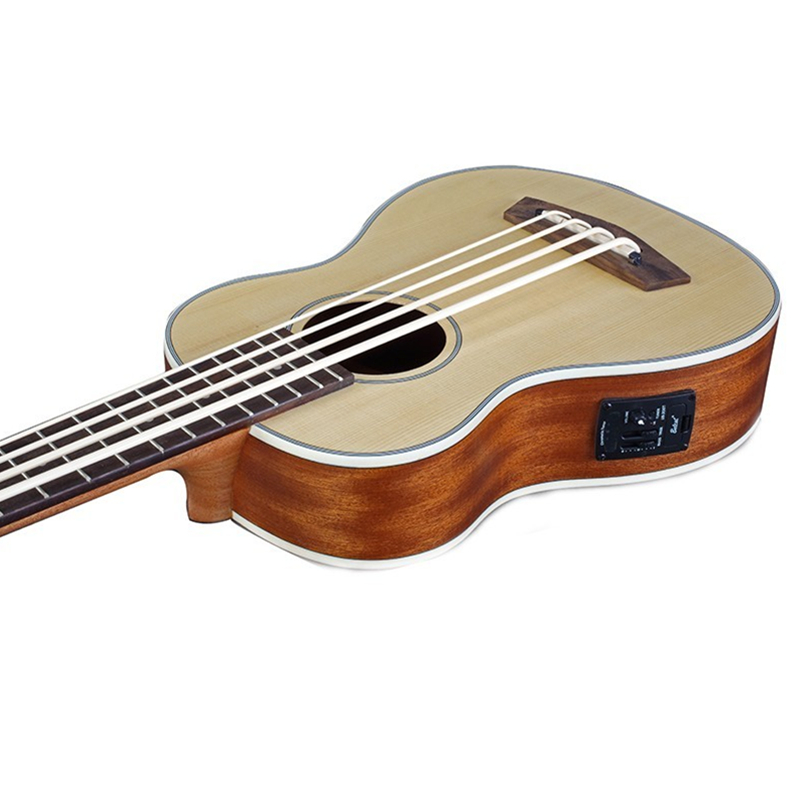 30 pouces ukulélé basse Guitarra Electrica mini guitare Instruments de musique professionnel épicéa voyage petite guitare ukelele - 3