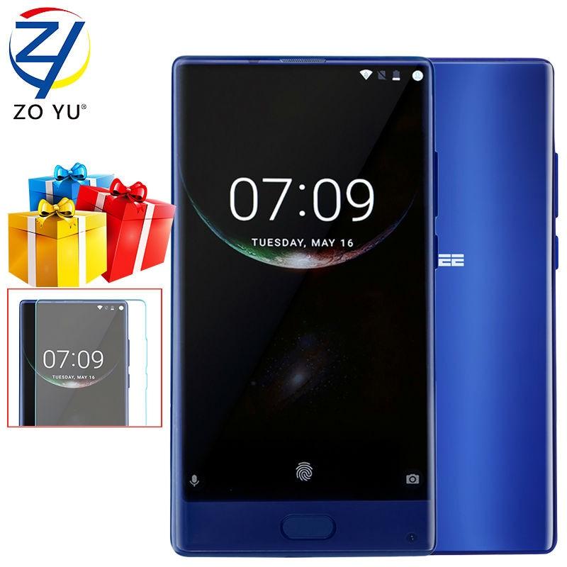 bilder für DOOGEE MIX Smartphone 4G LTE Android 7.0 Helio P25 Mobiltelefon Octa-core 5,5 HD 16.0MP 4G/6G + 64G Fingerprint 3380 mAh Handy