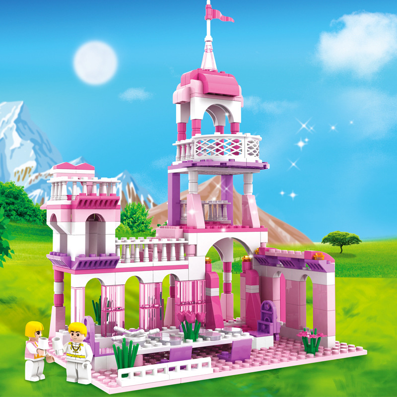 7-Style-Kids-Dream-Princess-and-Prince-Pink-Palace-Castle-Set-Model-Building-Blocks-Compatible-With-Lego-Gifts-child-Toys-1