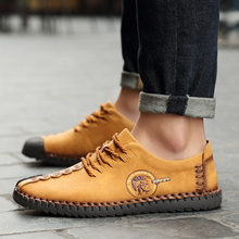 New Fashion Casual Flats Leather Men Outdoor Mocassin Shoes Driving Shoes Plush Inside Keep Warm Snow Footwear Casual Shoes