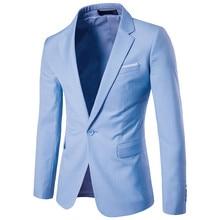Men's blazers 2018 high-end custom business suit / best man groom wedding dress simple 9 color suit coat S-4XL cc1024 s 4xl page 9
