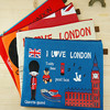 I Love London A4 Oxford Cloth File Holder Lovely Cartoon Kit Bag Pouch Bag Pencil Case