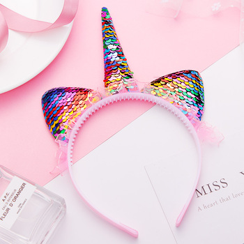 New Fashion Cute Unicorn Cat Ears Lace Headband