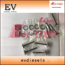 EV костюм для Sumitomo SH55 экскаватор двигателя 4LE1 клапан+ направляющая клапана+ сиденье клапана