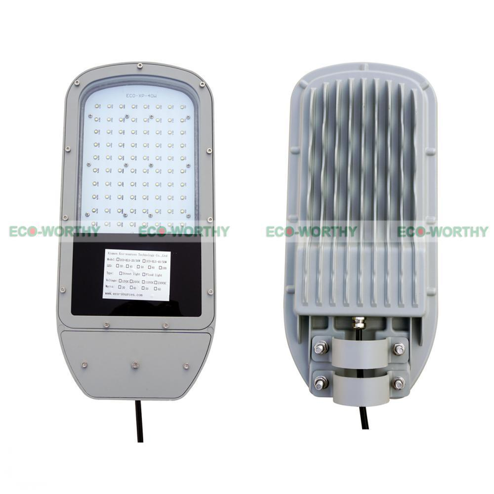 40W 12V LED Chips Solar Powered Street Light Bulb Save Energy Road Lamp Outdoor auxmart triple row led chips 12 led