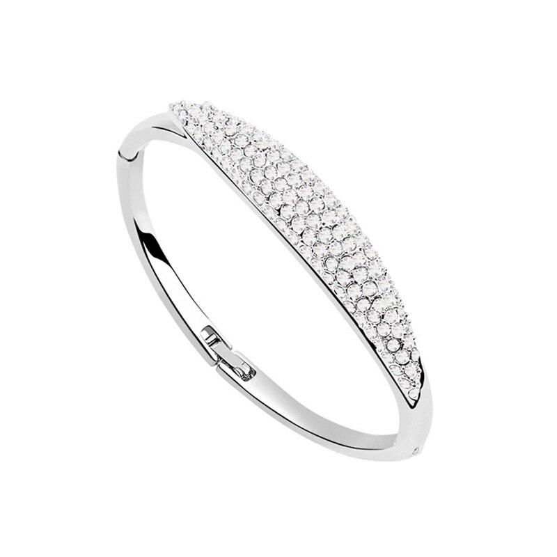 67c150643472 Vintage brazalete de cristal austriaco joyería famosa marca pulseras mujeres  joyas regalos de cumpleaños de la hija bijoux Accesorios 4 colores