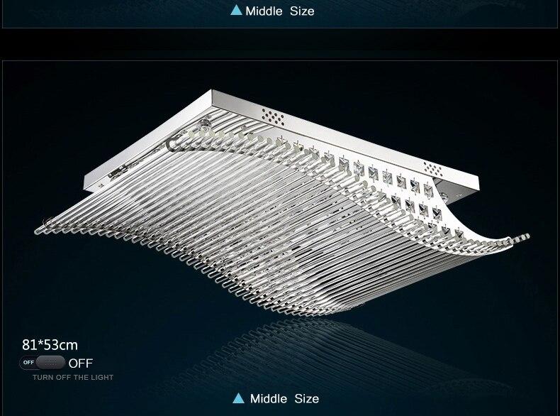 Plafoniere Led Moderne : Horsten luxus farbe glatt segeln led lampe k kristall moderne