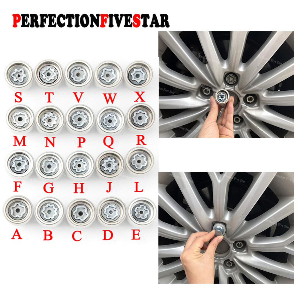 Key Chains Color Name: E 1Pcs Audi Tire Screw Key Tire Anti-Theft Screw Disassembly Tool Key Sleeve for Audi A1 A3 A4 A5 A6 A7 A8 Q3 Q5 Q7 TT R8