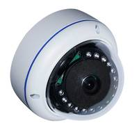 Onvif H 265 H 264 1080P 2MP Full Metal Vandalproof IR Nightvision P2p Dome Ip Camera