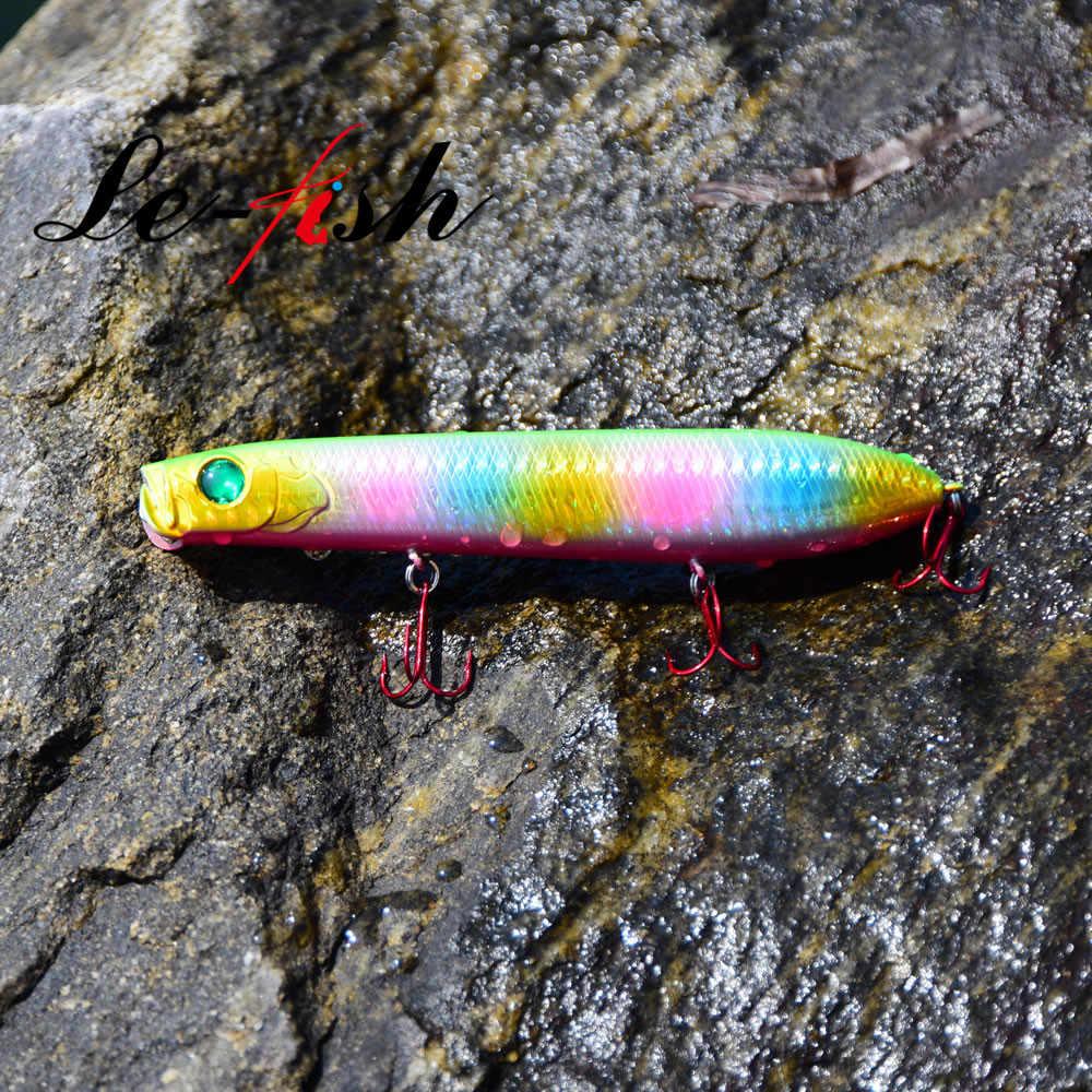 Le-魚 1 PC 130 ミリメートル 24 グラムの犬ウォーキング低音餌フローティングペンシルルアーペスカのトップウォーターポッパールアーペシェジグザグ表面キャスト