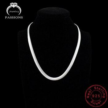 f3ef86c4a1 Moda 2018 Venta caliente Collar Punk 925 placa de plata diseño Simple  clavícula plana cadenas de serpiente Collar para joyería de mujer